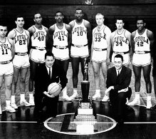 Loyola 1963 Men's Basketball NCAA Title Team soon to be Hall of Famers
